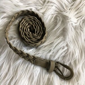 Forever 21 Pleather Taupe Woven Belt